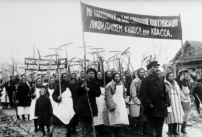 коллективизация, колхозы, кулачество, СССР